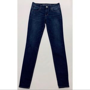 AEO Jegging Super Super Stretch x4 dark wash sz 4